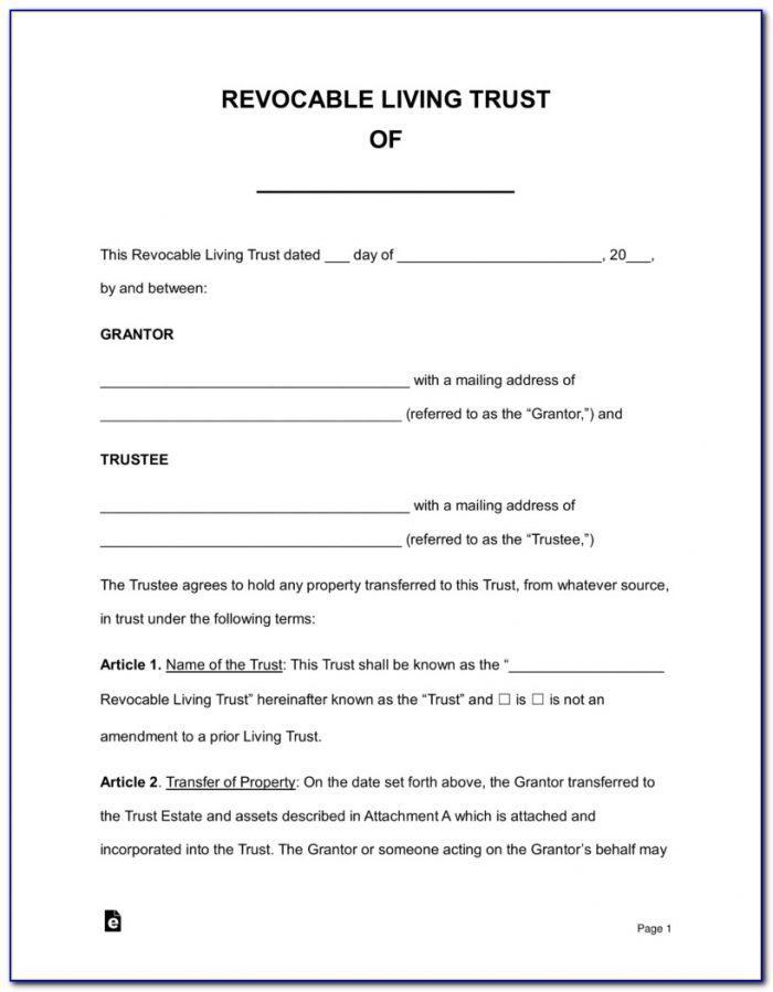 Free Nfa Trust Template