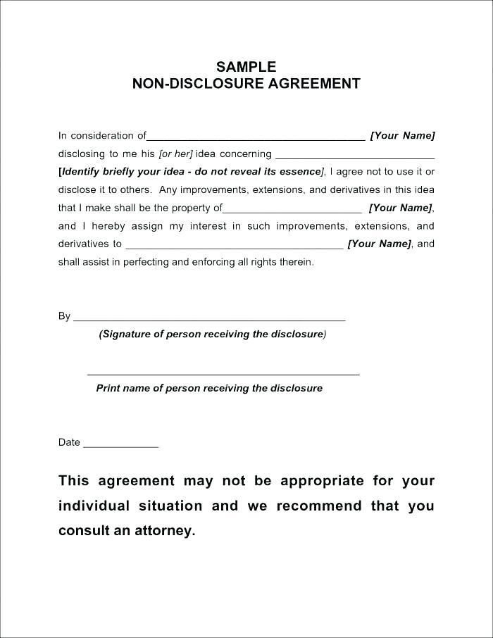 Free Non Disclosure Agreement Template South Africa