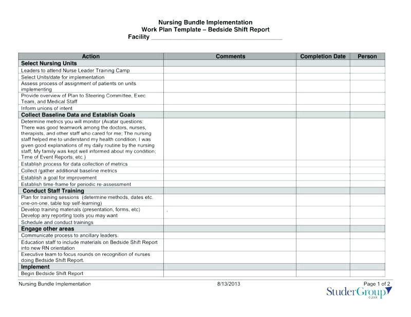 Free Nurse Schedule Template