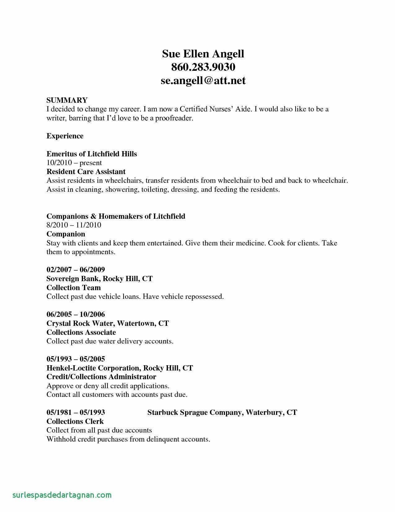 Free Nursing Resume Template Examples