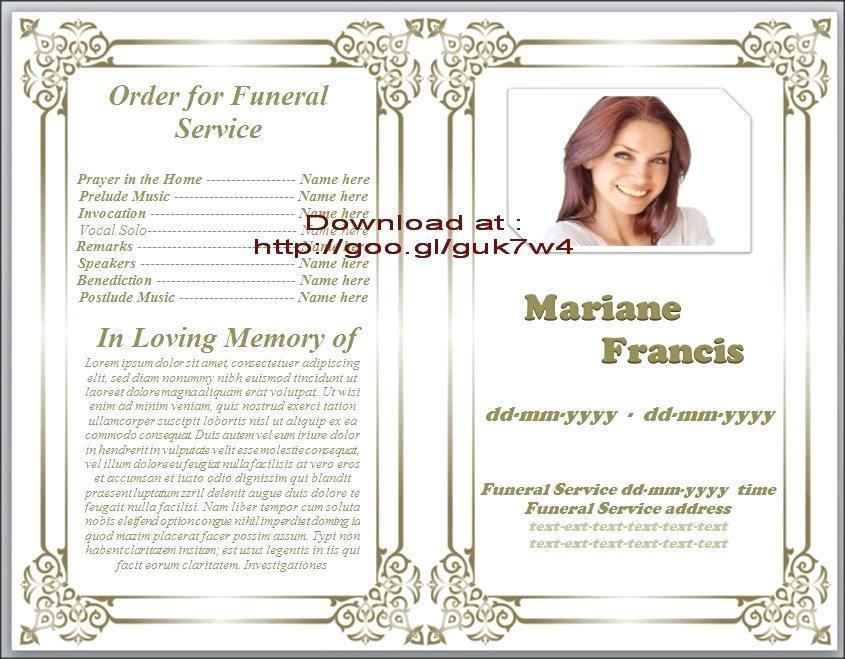 Free Obituary Funeral Program Templates