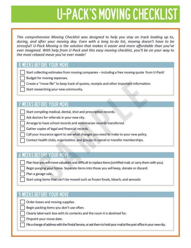Free Office Relocation Checklist Template
