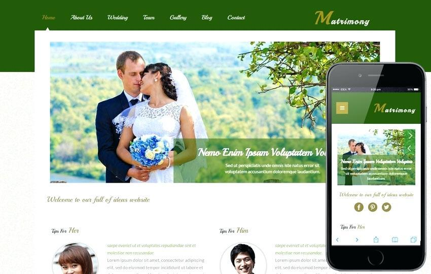 Free One Page Wedding Website Templates