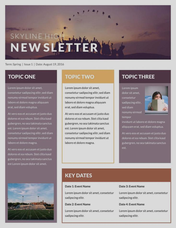 Free Online Classroom Newsletter Templates