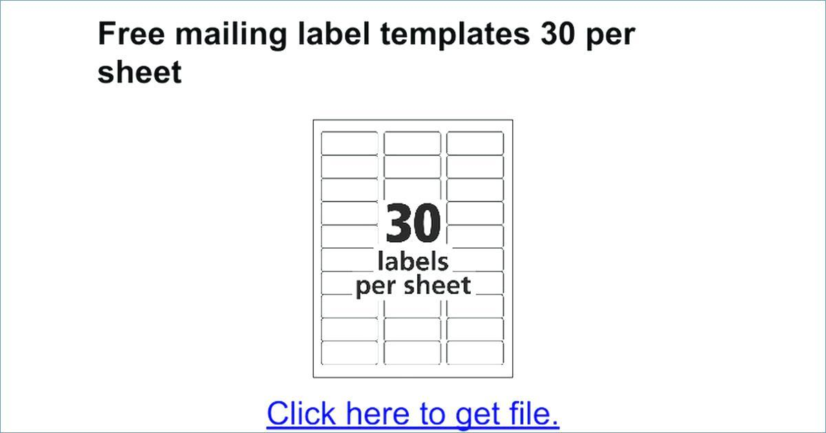 Free Online Mailing Label Templates