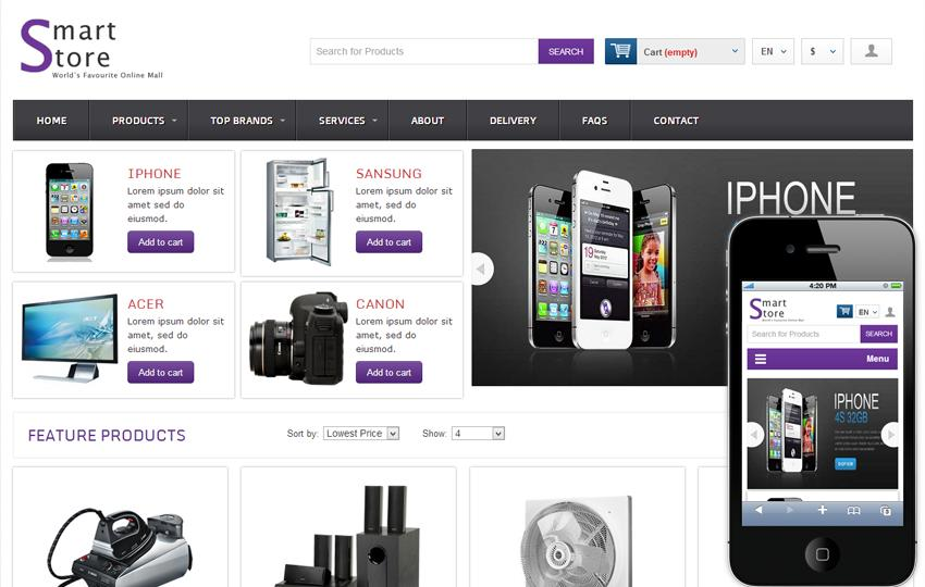 Free Online Shopping Cart Web Templates