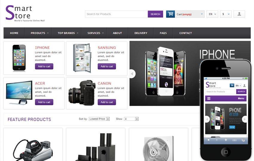 Free Online Shopping Cart Web Templates