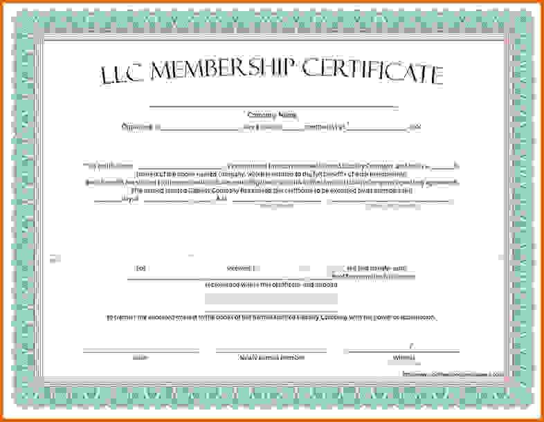 Free Online Stock Certificate Template