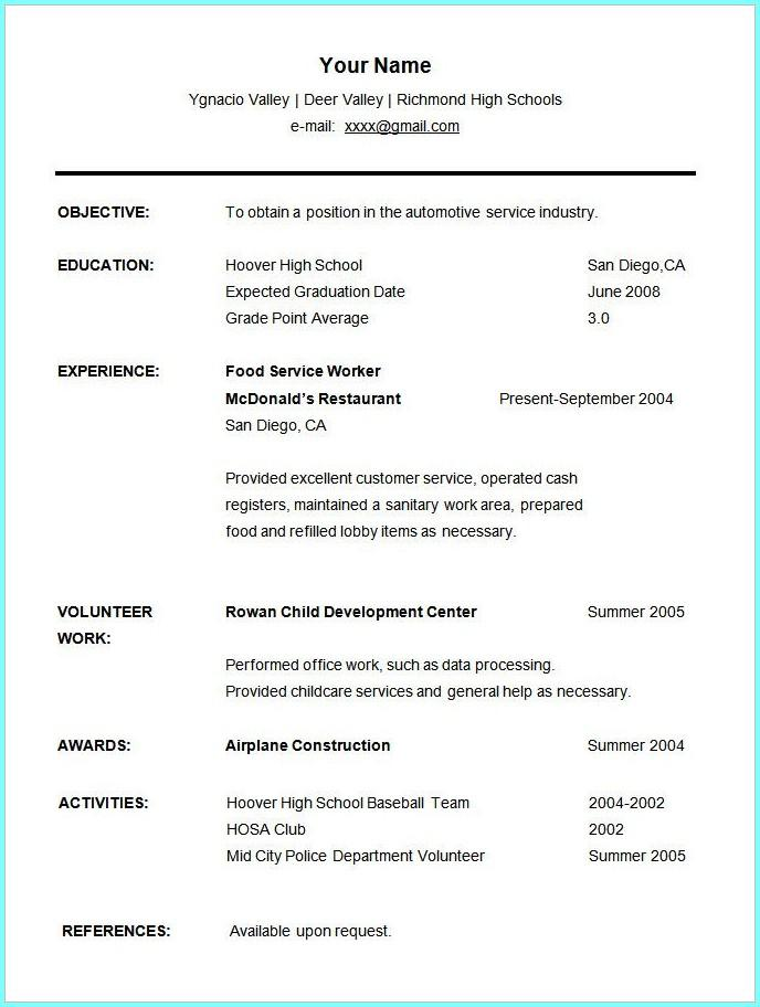 Free Online Student Resume Templates