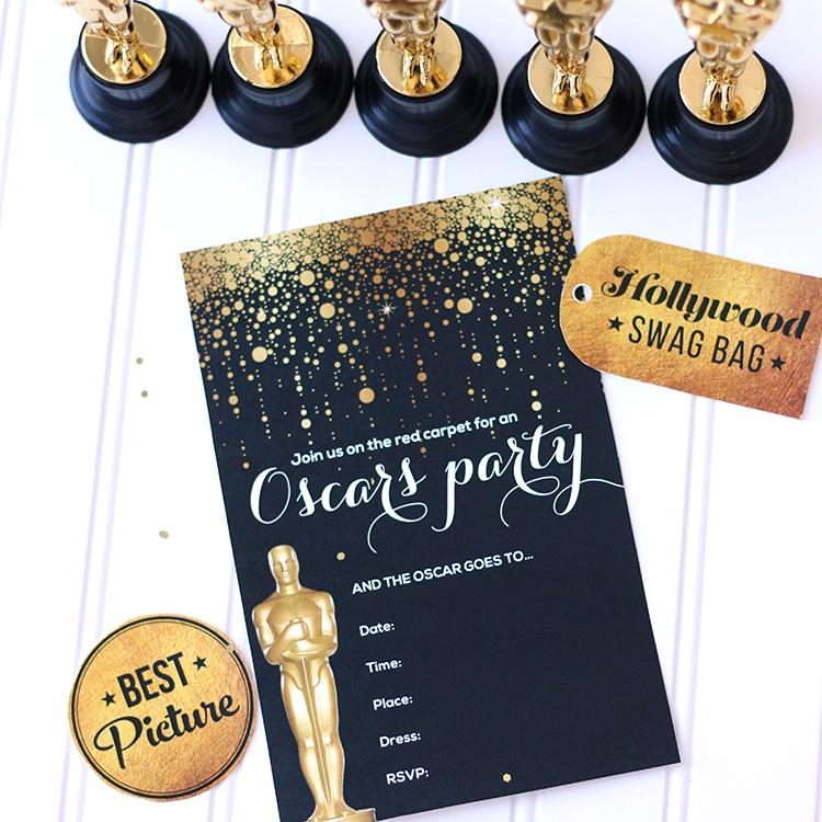 Free Oscar Party Invitation Template