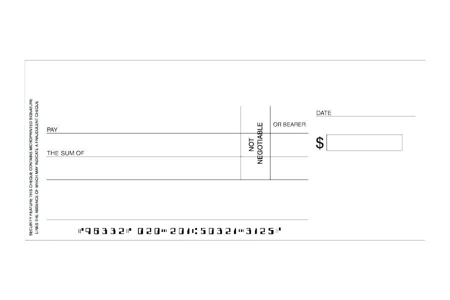 Free Oversized Blank Check Template