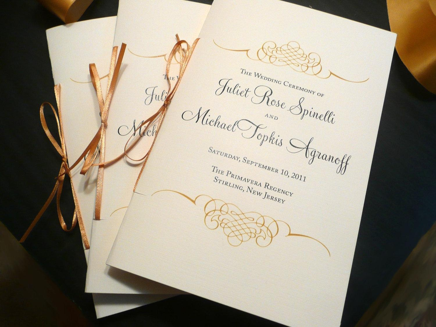 Free Paddle Fan Wedding Program Template