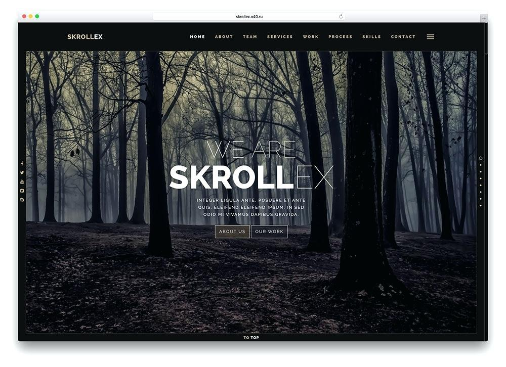 Free Parallax Websites Templates