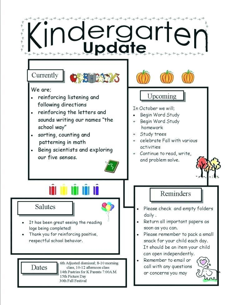Free Parent Newsletter Template