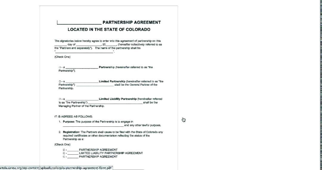 Free Partnership Agreement Template Nsw