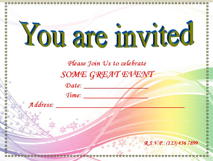 Free Party Invitation Templates For Mac