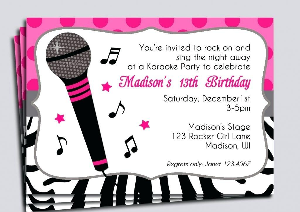 Free Party Invitation Templates Music