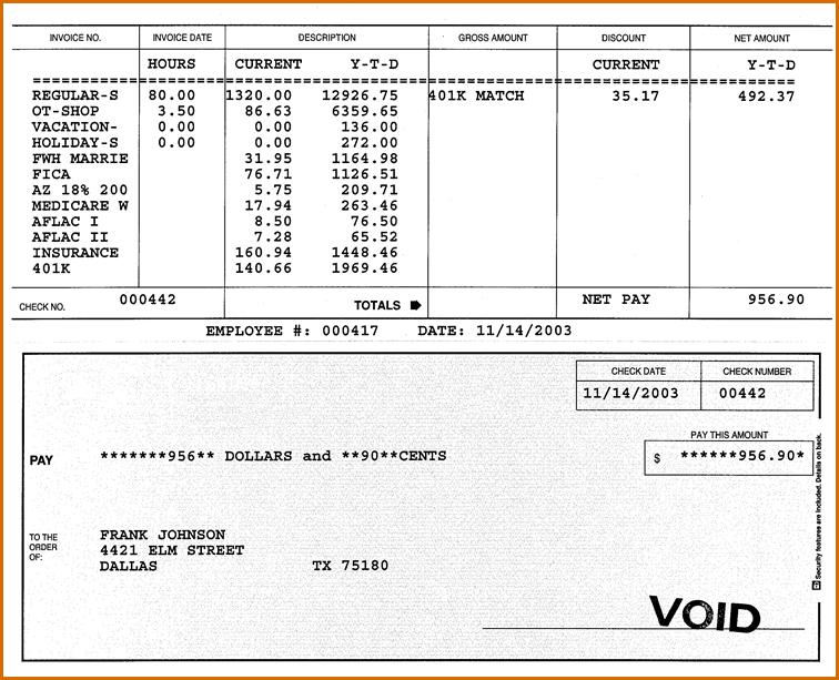 Free Pay Stub Template