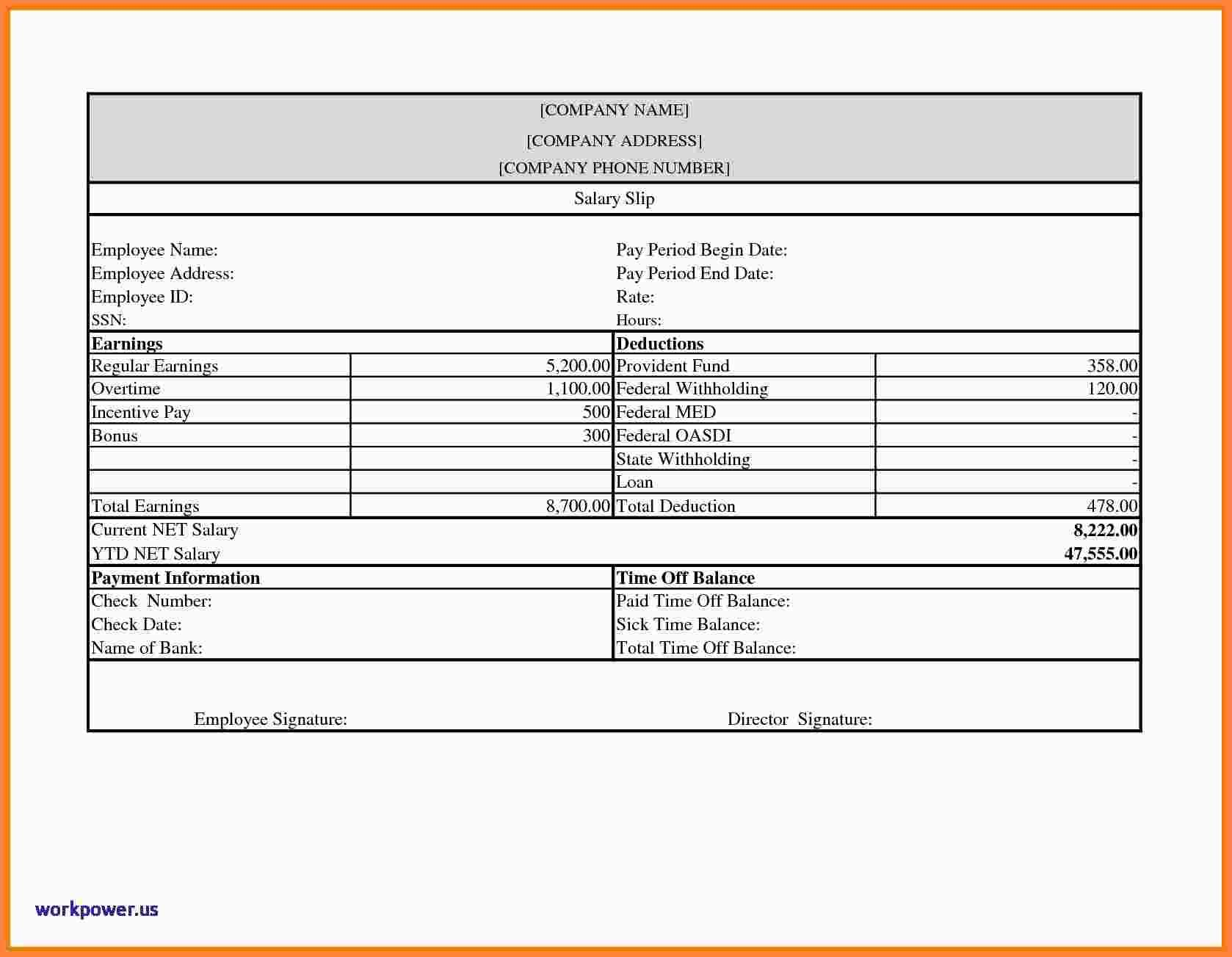 Free Payroll Check Template Download