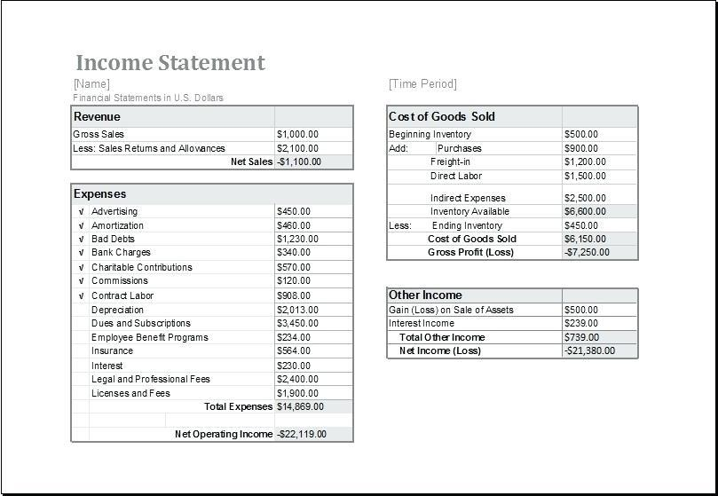 Free Payroll Earnings Statement Template