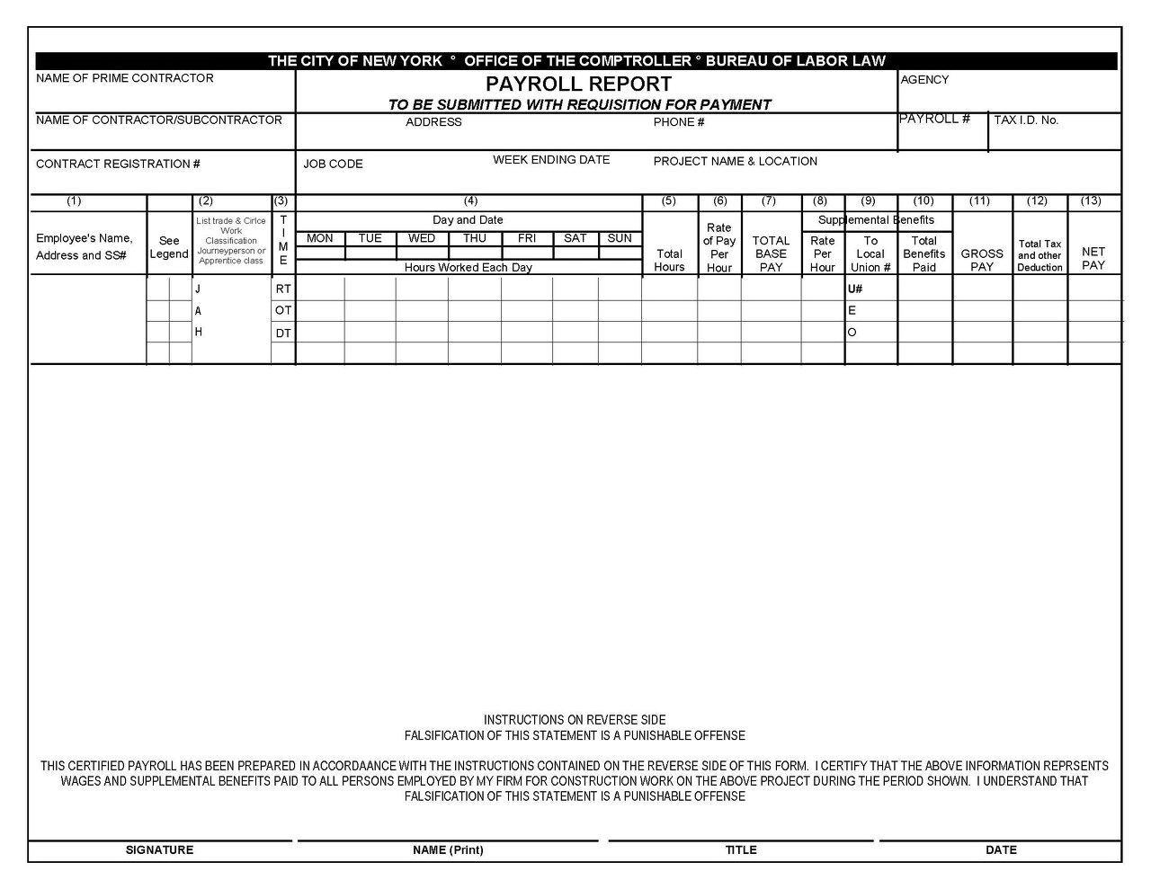 Free Payroll Template Excel Philippines