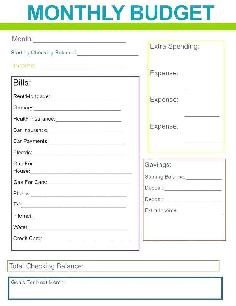 Free Personal Budget Spreadsheet Template Excel
