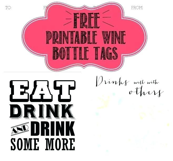 Free Personalized Wine Bottle Label Template
