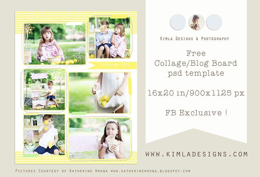 Free Photoshop Templates For Photographers Collage