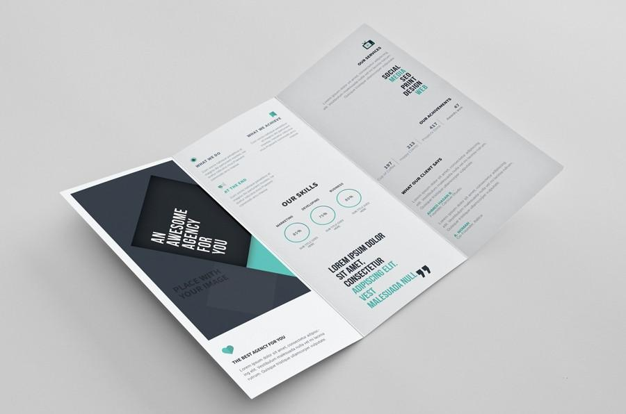 Free Photoshop Tri Fold Brochure Template