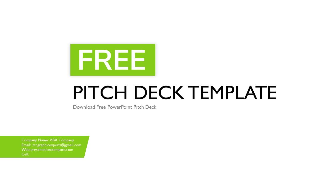 Free Pitch Deck Template Powerpoint