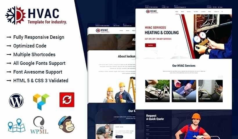 Free Plumbing And Heating Website Templates
