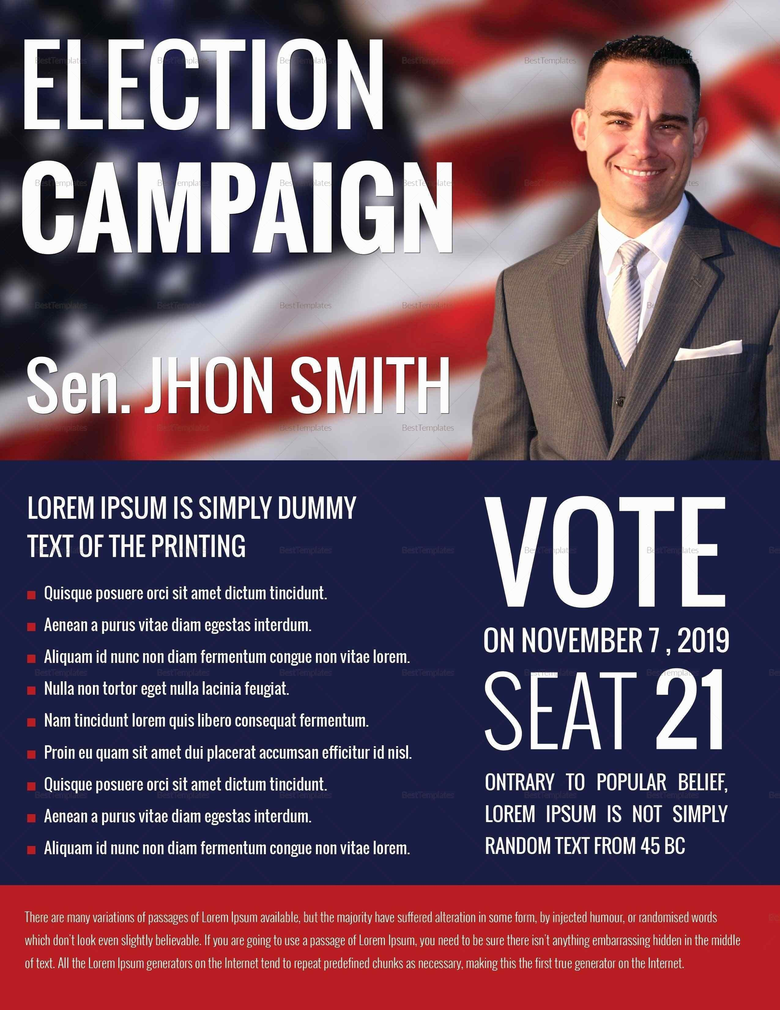 Free Political Campaign Brochure Templates