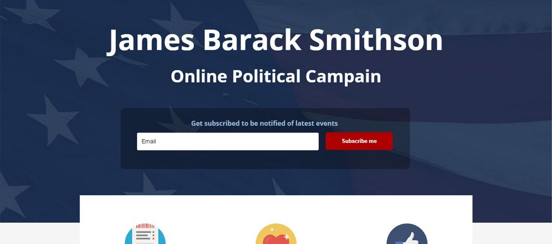 Free Political Campaign WordPress Templates