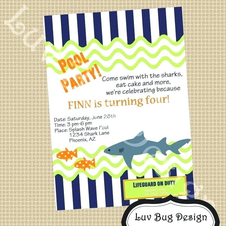 Free Pool Party Invitation Template Word