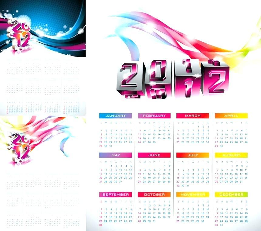 Free Poster Size Calendar Template
