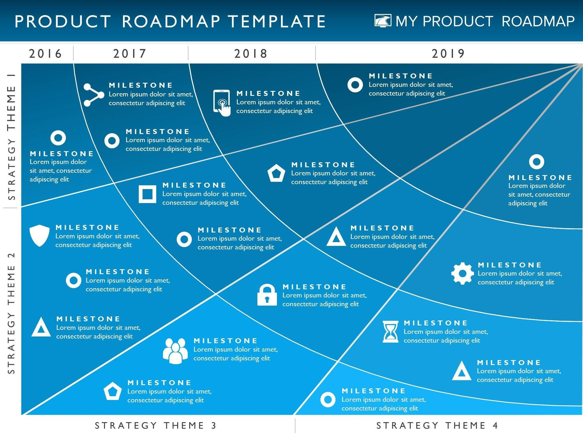 Free Powerpoint Template Product Roadmap