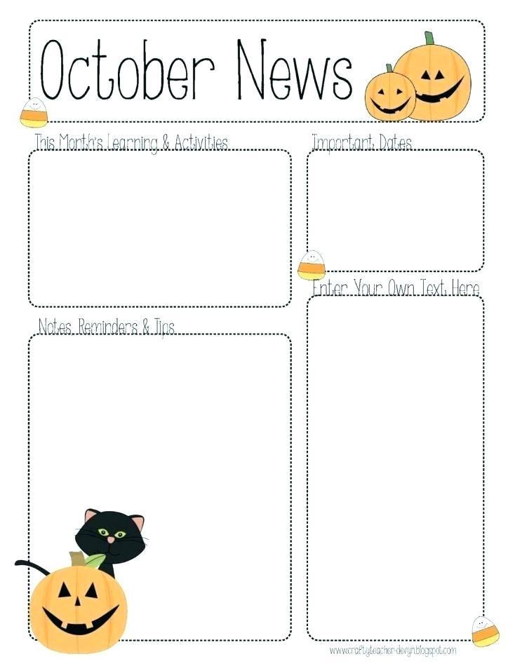 Free Preschool Parent Newsletter Template