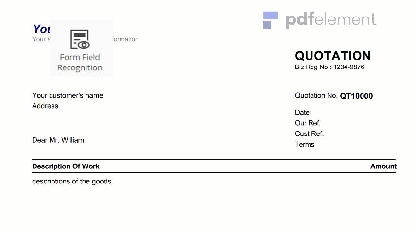 Free Price Quote Template