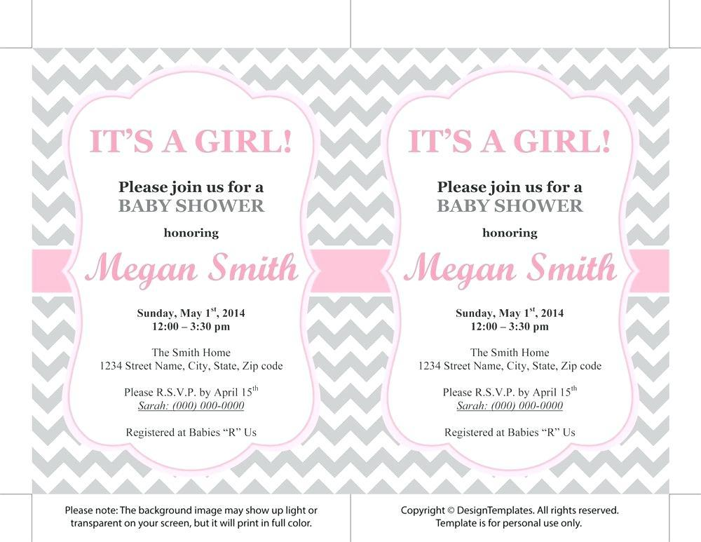 Free Princess Baby Shower Invitation Templates