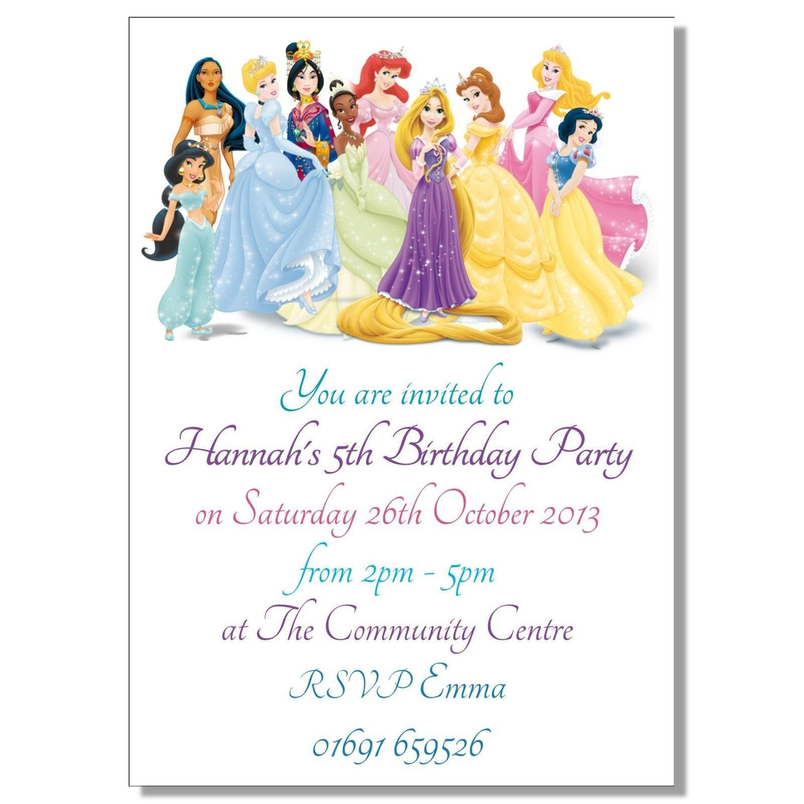 Free Princess Party Invitation Templates