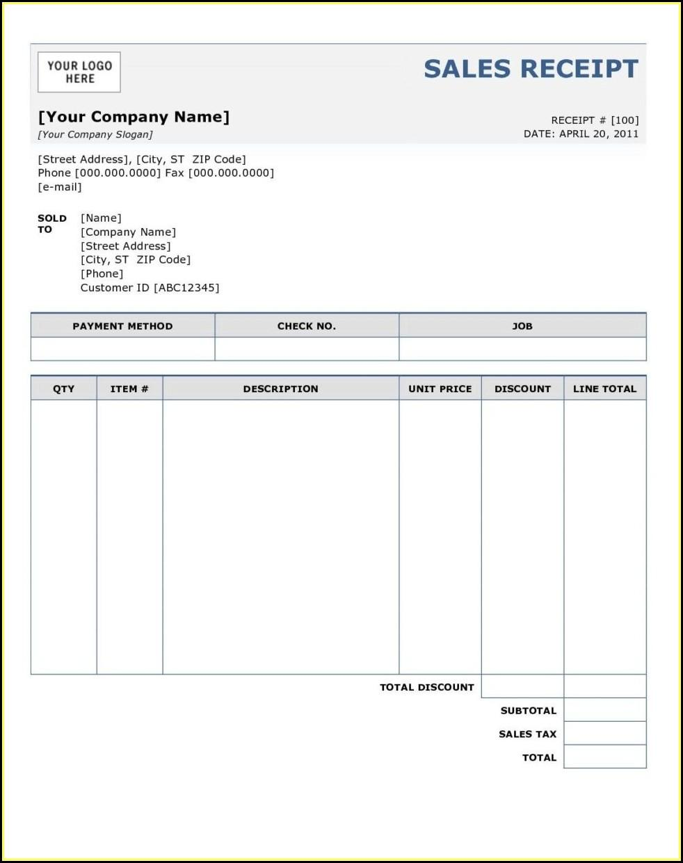 Free Print Invoice Forms