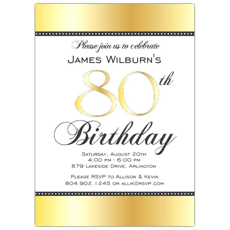 Free Printable 80th Birthday Invitations Templates