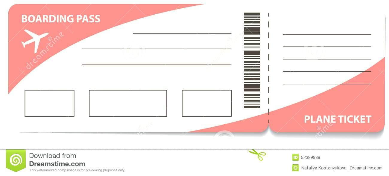 Free Printable Airline Ticket Template For Gift