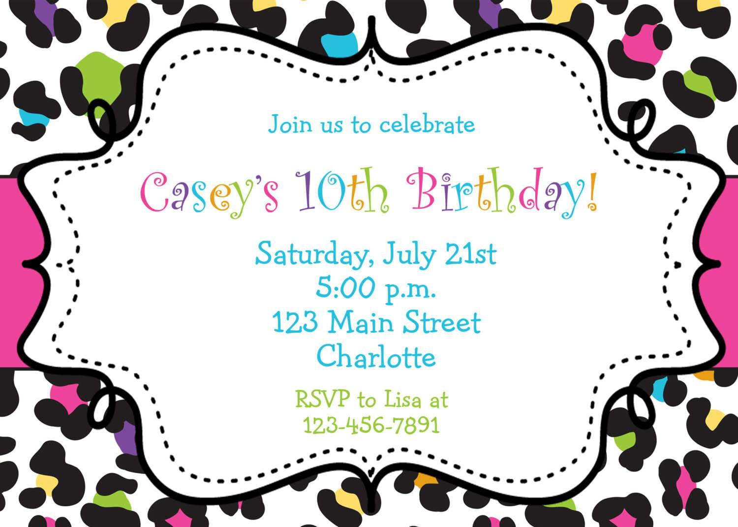Free Printable Art Party Invitation Templates