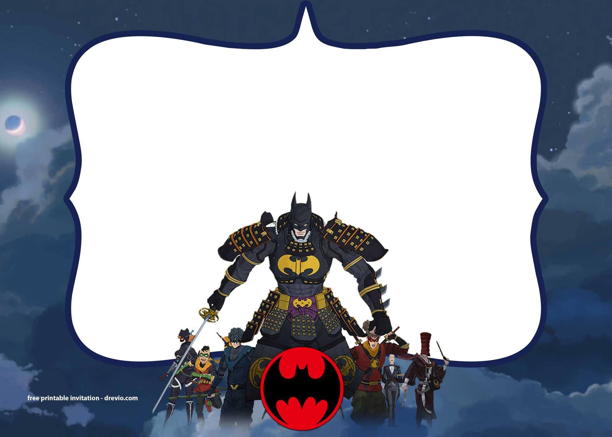 Free Printable Batman Invitation Template