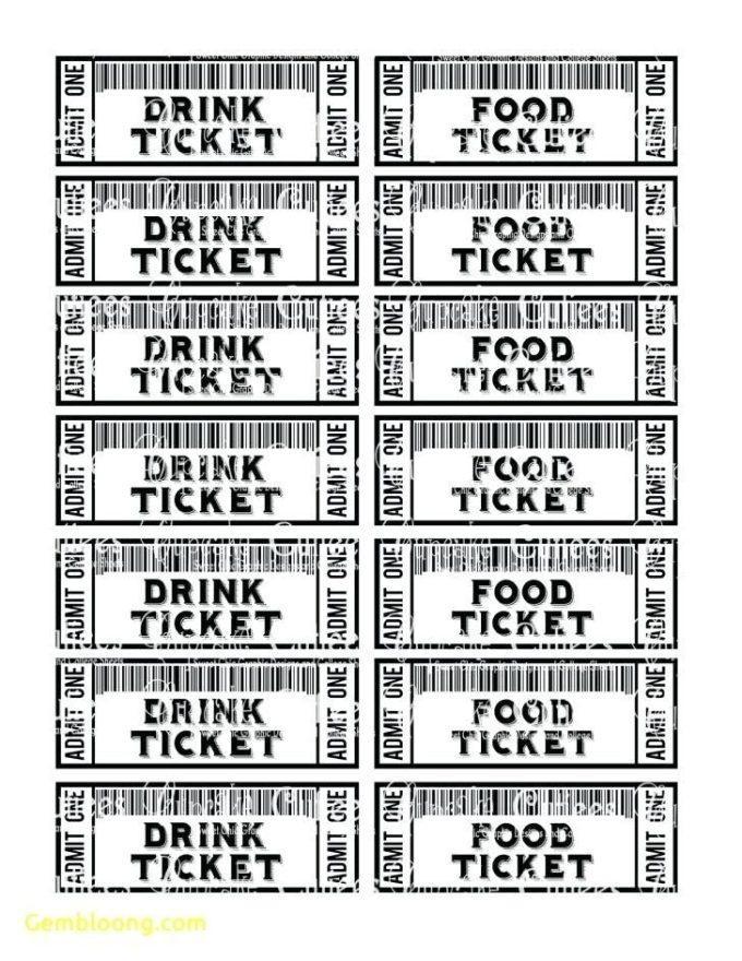 Free Printable Bbq Tickets Templates