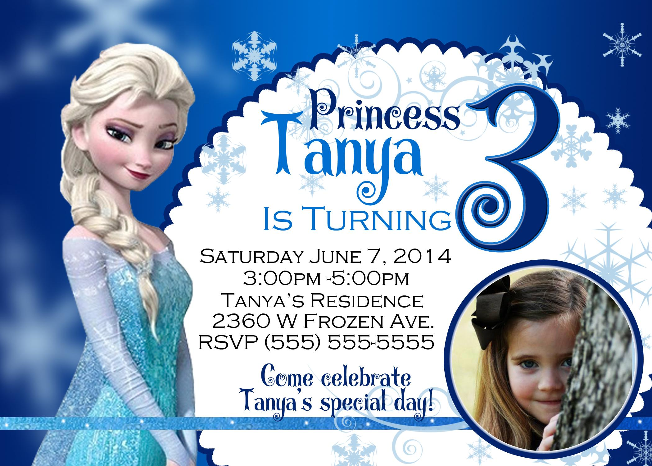 Free Printable Birthday Invitation Templates Frozen