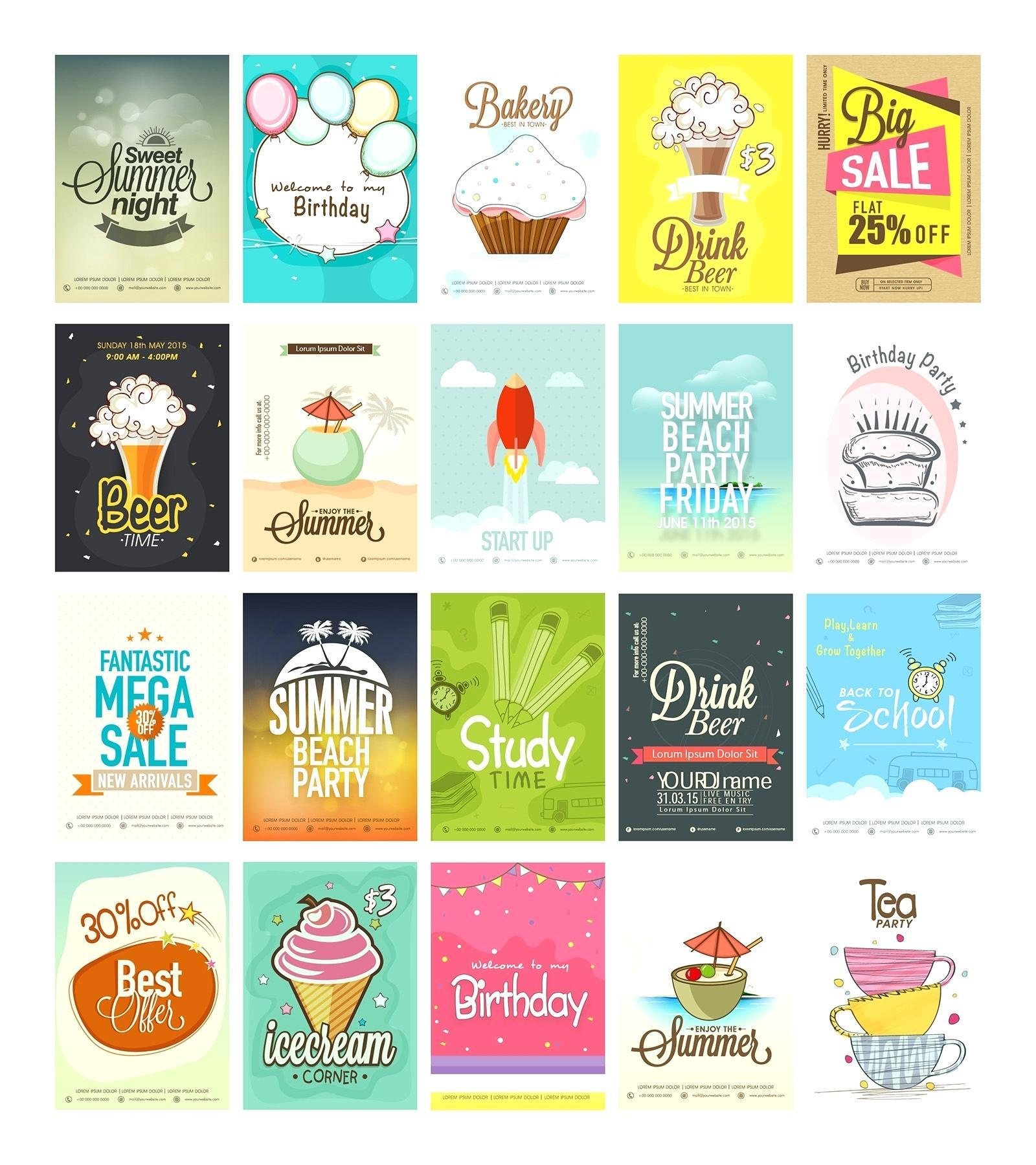 Free Printable Birthday Party Flyer Templates