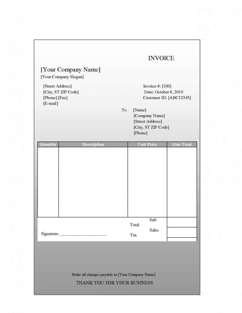 Free Printable Blank Receipt Template