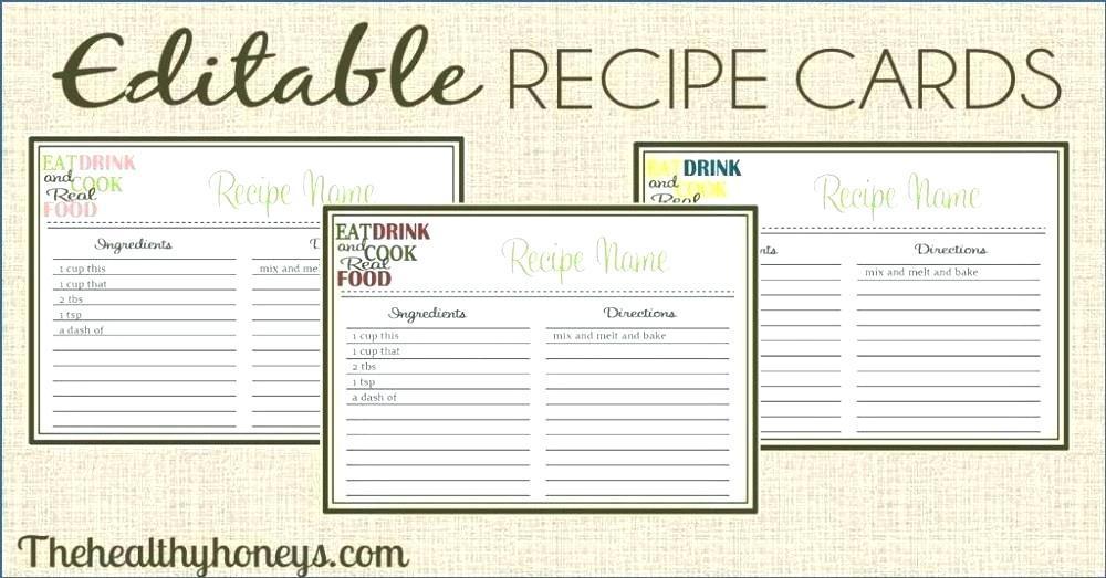 Free Printable Blank Recipe Templates